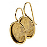 Nunn Design Antique Gold (plated) Small Oval Frame Earring 12x17mm