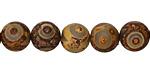Tibetan (Dzi) Agate Matte Round 10mm