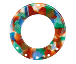 Zola Elements Lagoon Acetate Donut Chandelier 38mm