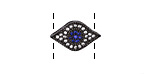 Clear Waters Mix Pave CZ Gunmetal (plated) Eye Focal 17x10mm