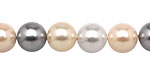 Vintage Lace Shell Pearl Mix Round 10mm