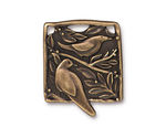 TierraCast Antique Brass (plated) Botanical Bird Pendant 23x29mm
