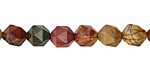 Red Creek Jasper Star Cut Round 8mm