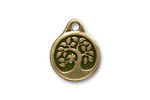TierraCast Antique Brass (plated) Bird In A Tree Pendant 16x20mm