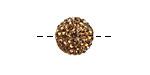 Smoked Topaz Pave (w/ Preciosa Crystals) Round 12mm