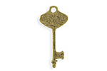 Vintaj Antique Brass (plated) Key Blank 13x28mm