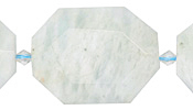 Aquamarine (light blue) Faceted Flat Slab 28-38x22-30mm
