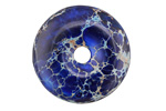 Cobalt Impression Jasper Donut 30mm