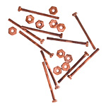 Nunn Design Antique Copper (plated) Micro Screw & Nut Set