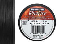 """WildFire Black .006"""" Thread, 20 yd"""