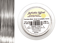Artistic Wire Stainless Steel 32 gauge, 100 yards