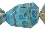 Larimar Blue Crazy Lace Faceted Flat Slab 35-45x25-35mm