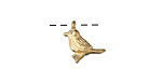 Zola Elements Satin Gold (plated) Little Bird Charm 13mm