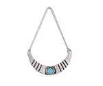 Zola Elements Antique Silver (plated) Delicate Crescent Focal w/ Resin Turquoise 21x33mm