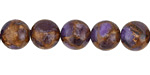 Lavender Opal w/ Bronzite Marbled Quartz Round 10mm