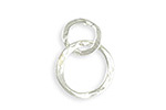 Vintaj Sterling Silver (plated) Linked Hammered Rings 17x24mm