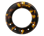 Zola Elements Tortoise Shell Acetate Donut Chandelier 27mm