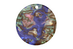 Abalone Resin Coin Focal 29mm