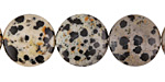 Dalmatian Jasper Puff Coin 18mm