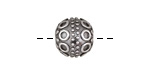 Antique Silver (plated) Bali Style Round 13mm