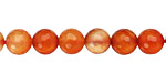 Carnelian (natural) Faceted Round 8mm