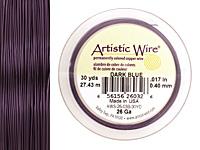 Artistic Wire Dark Blue 26 gauge, 30 yards