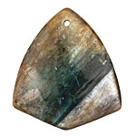 Kyanite (in resin) Arrowhead Pendant 40x45mm