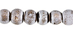 Birch w/ Speckles Banded Porcelain Tumbled Rondelle 9x11mm
