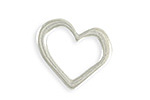 Vintaj Antique Sterling Silver (plated) Asymmetrical Heart Ring Blank 24x23mm