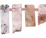 Pink Opal Graduated Slice Drops 8-10x18-38mm