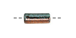 Greek Ceramic Raku Metallic Frosted Copper Tube 17x6mm