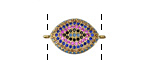 Mirage Mix Pave CZ Gold (plated) Eye Focal Link 21x13mm