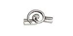 Greek Pewter Spiral Cord End Closure 12x24mm