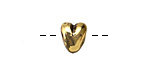 Greek Antique Gold (plated) Heart Bead 10x11mm