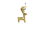 Zola Elements Antique Gold (plated) Reindeer Charm 11x18mm