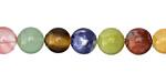 Multi Gemstone (Sodalite, Tiger Eye, Red Jasper, Aventurine) Round 8mm