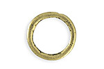 Vintaj Antique Brass (plated) Heavy Hammered Ring 23mm