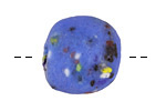 African Powder Glass Royal Blue Confetti Large Round Bead 22-23mm