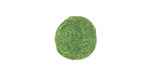 Leaf Green Felt Round 15mm