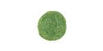 Leaf Green Felt Round 15mm