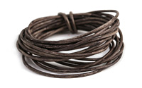 Weathered Coffee Leather Cord 1.5mm