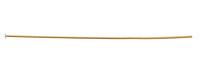 "Gold (plated) Headpin 3"", 21 gauge"