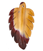Mookaite Carved Leaf Focal 29-31x50-55mm