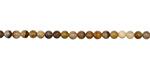 Golden Wooden Jasper Round 3mm