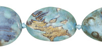 Aqua Terra Agate Twisted Oval 35x25mm