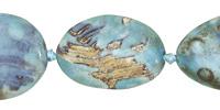 Aqua Terra Agate Twisted Oval 35x25mm