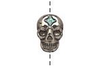 Golden Pyrite (silver tone) Skull 19x13mm