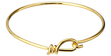 TierraCast Gold Wire Bracelet w/ Hook & Eye 60mm