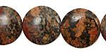 Leopardskin Jasper Puff Coin 20mm