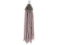 Moonlight Crystal Tassel w/ Fanned Pave Cap 21x105mm